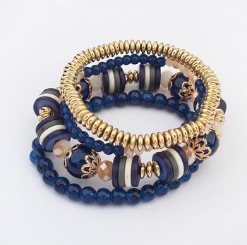 Fashion Bohemian Beach Style Multilayer Set Bracelets High Quality Acrylic Bracelet For Women Vocantion