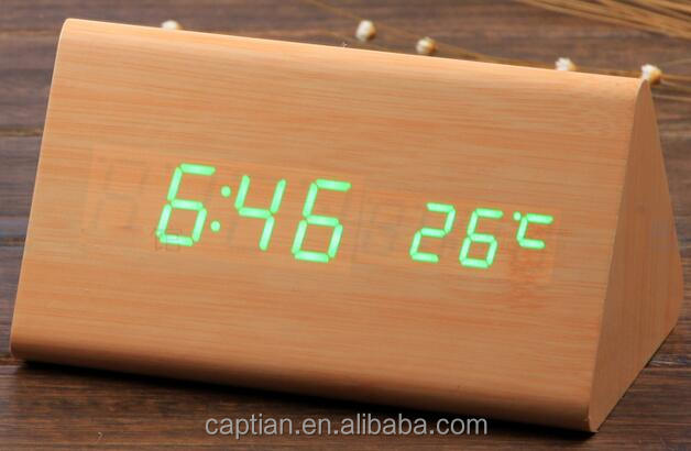 Small Digital wooden Alarm Clock ,Desktop Clock