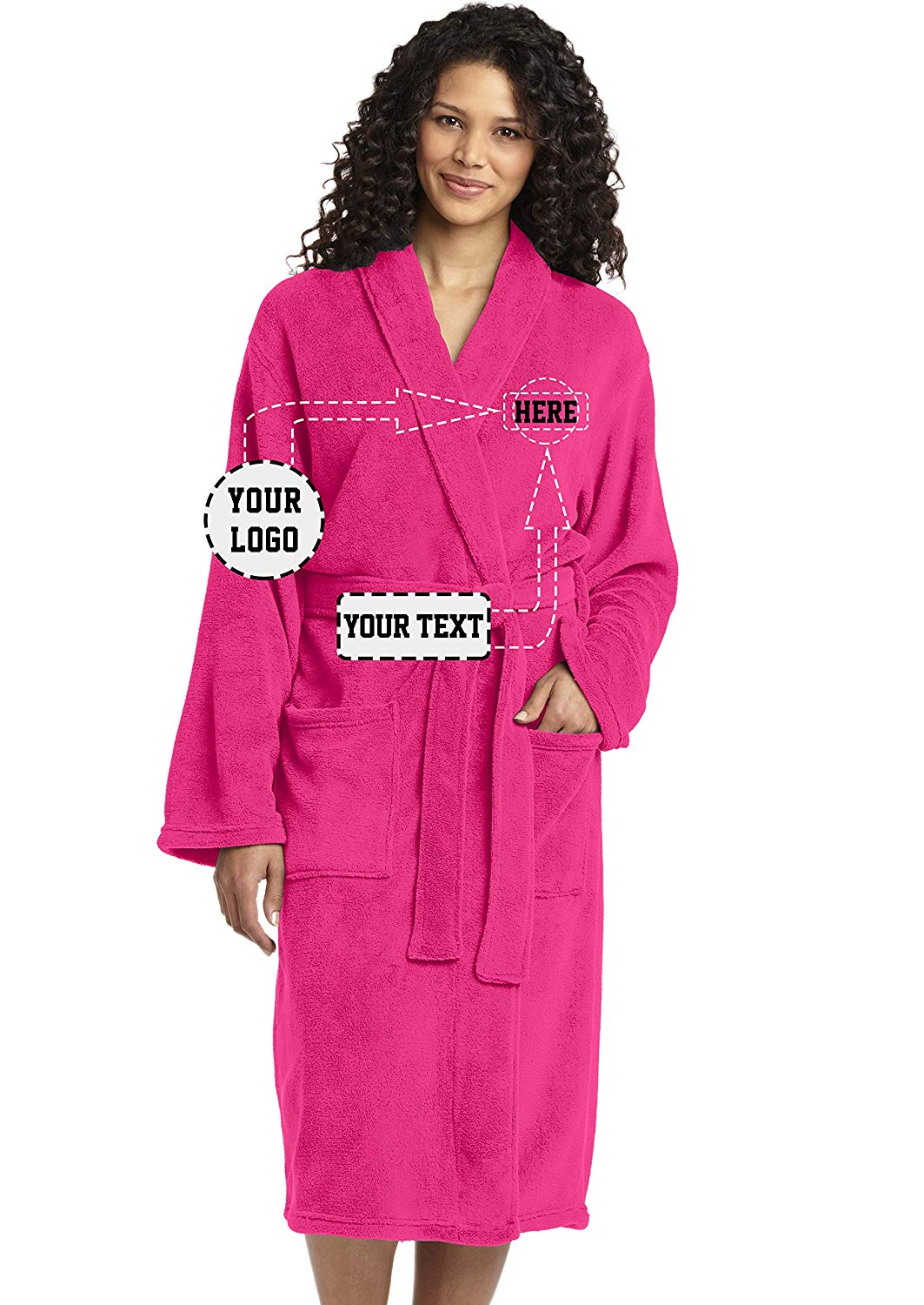 Get Quotations · Personalized Embroidered Robes – Custom Spa Robe – Monogrammed  Bathrobes 87cfe8a82