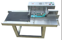 YG-1001A PVC conveyor belt with Desktop Automatic Paging Machine for CIJ inkjet printer for Food Industry