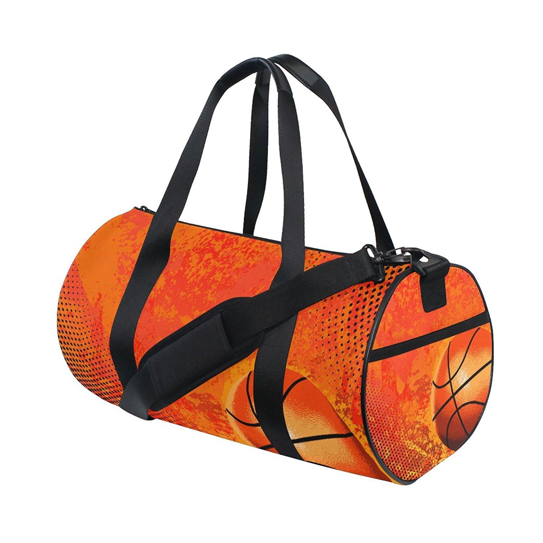 c33f8a1073 U LIFE Vintage Sports Basketball Sports Gym Shoulder Handy Duffel Bags for Women  Men Kids Boys