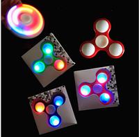 [UPO] 2017 Wholesale ABS toys EDC led light fidget spinner toy, copper hand finger spinner,illuminate Spinner