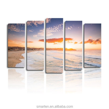 Streteched Simple Sunset Canvas Natural Scenery Painting