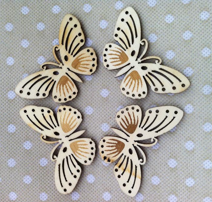 Kelebek Bitmemiş Ahşap şekillerle Zanaat Kaynağı Lazer Kesik