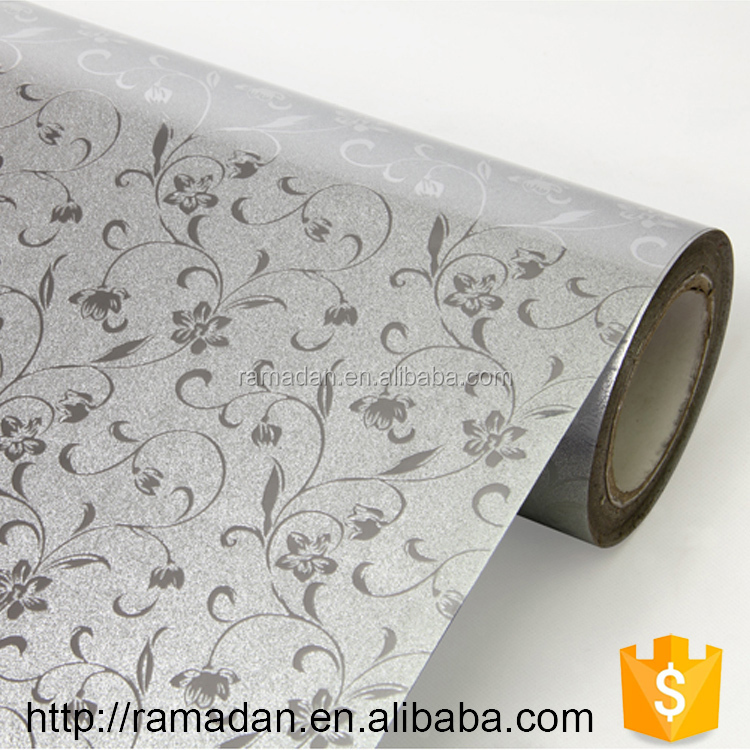 China supplier adhesive kitchen cabinet pvc film White High Glossy Solid Color Membrane PVC Foil film