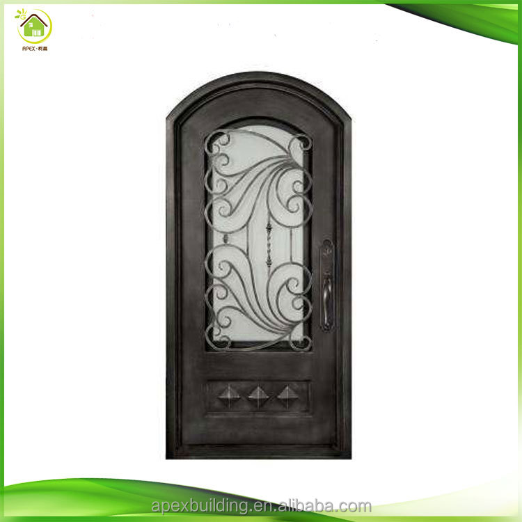 interior wrought iron components amnd glass front gates doors