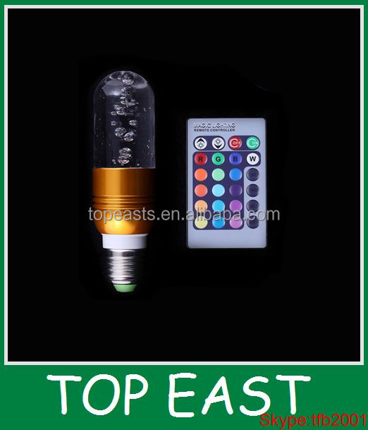 E27 Crystal hot light Golden 3W RGB 16 Color Changing rgb led crystal light e27 3w Wireless Remote