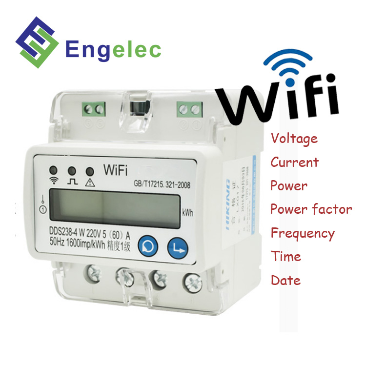 1575d7abc5a8e1 Smart Wifi Meter DDS238-4 W single phase din rail current voltage display  RS485 communication solar energy meter rs485 modbus