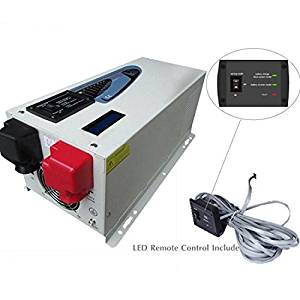 Power Inverter 2000w Peak 6000w Pure Sine Wave Inverter Mabelstar inverter with Charger 20A, DC 48V AC 110v 60HZ Converter LCD