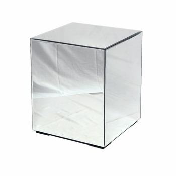 4 Size Mirror Cube Display Pedestal Plinth For Flowersvases Or