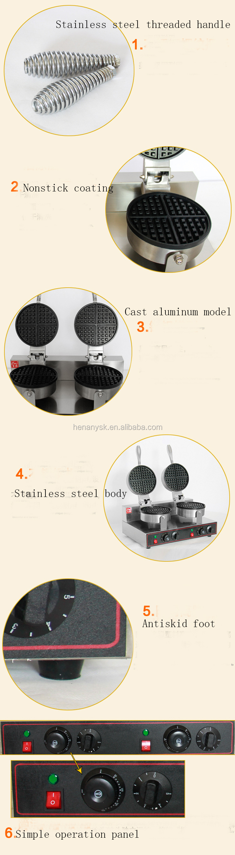 Waffle Iron 2 Kitchen Waffle Baking Mold Toaster Newly Timer Commercial Waffle Baker Maker Baking & Pastry Tools For Cakes