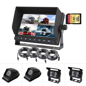 7 inch Lcd Recording Monitor Bus Cctv Camera System / Rearview Reverse Monitor