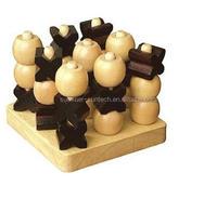 Wooden Puzzle Game - 3D Tic Tac Toe