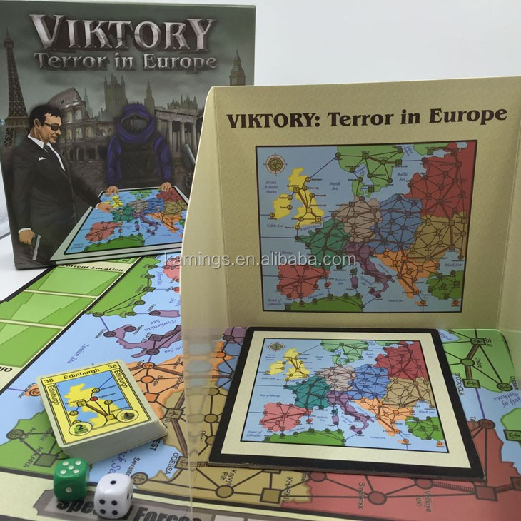 2017 New Spanish Custom Print Matte Glossy finished Board Game