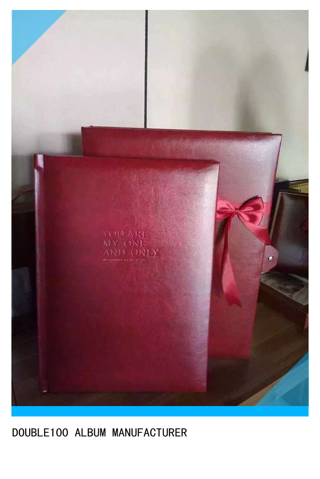 new design photo album cover and case with redribbon
