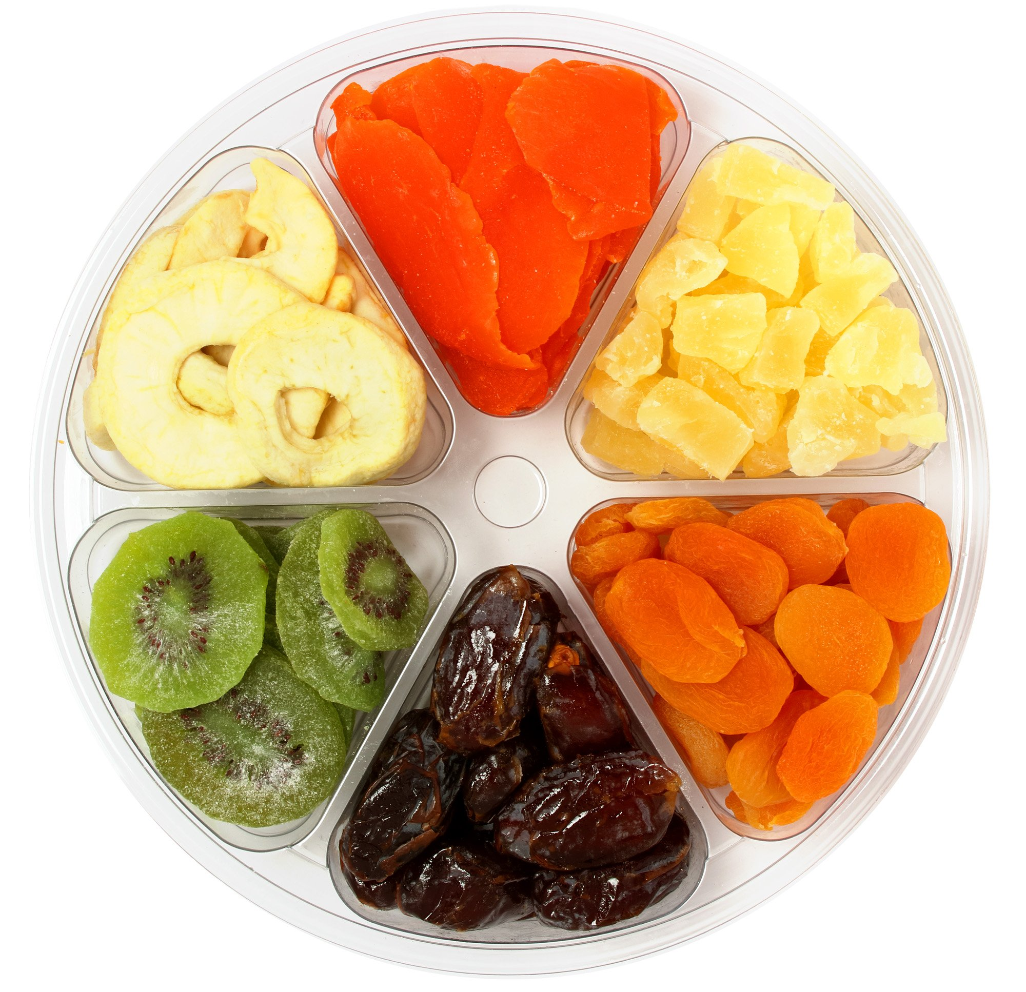 Sincerely Nuts Dried Mixed Fruit Tray | Kosher Certified Apple Rings, Medjool Dates, Turkish Apricots, Pineapple Tidbits, Kiwi Slices & Mango Slices | Supremely Fresh