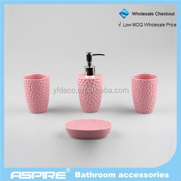 Grossiste accessoire salle de bain rose-Acheter les meilleurs ...