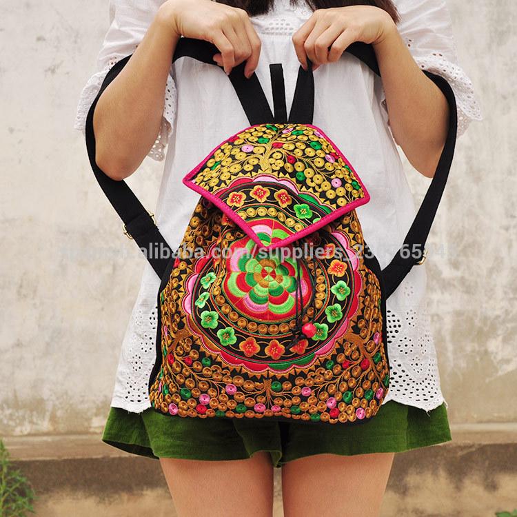Caliente, la venta de la escuela bolsos bordados étnicos bolsas mochila