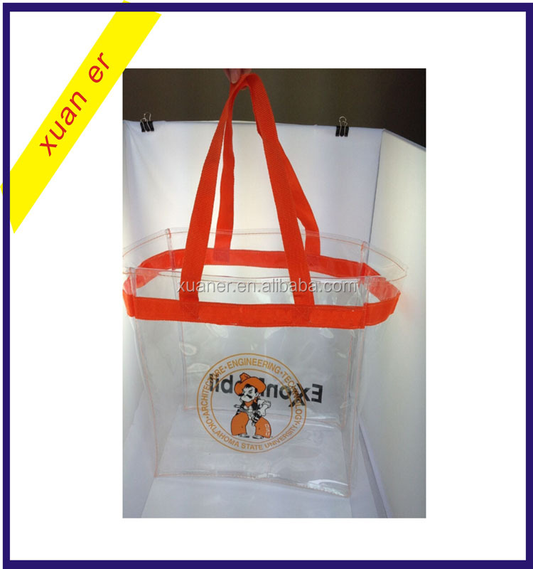 2017 top selling products clear pvc shopping tote bag in china wholesale market