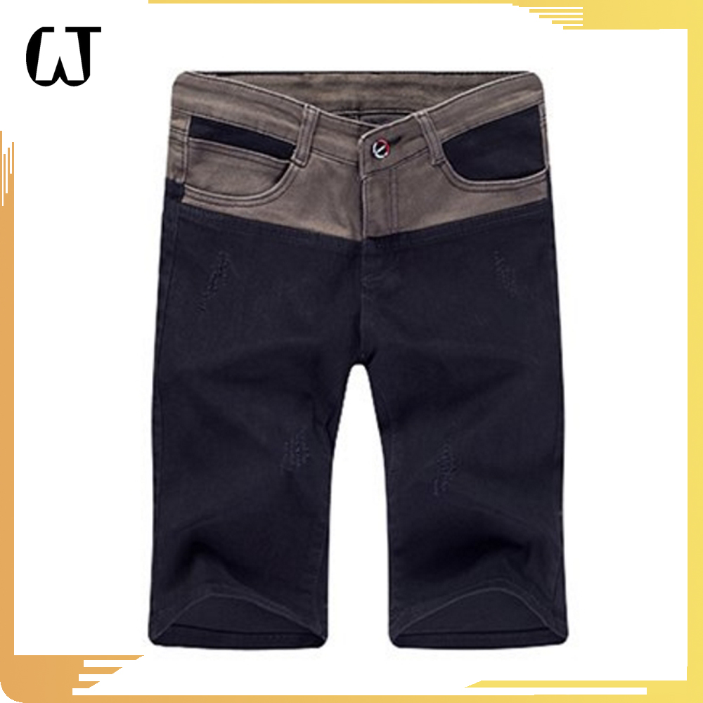 K110 #Best selling in europe 2017latest design Denim material colors patch machine mens Jeans pants Shorts wholesale cheap price