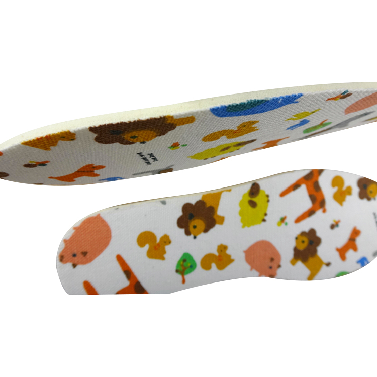 Factory custom print  latex children shoe insole