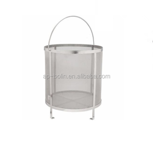 200 micron 400 micron stainless steel woven wire mesh baskets 300 micron stainless steel hop basket