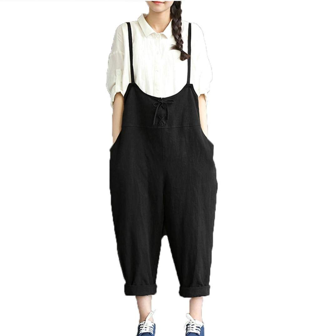 b501947594 Get Quotations · Hunzed Women Loose Baggy Jumpsuit Bib Pants Long Pants  Casual Trousers Overall Harnes Pants For Ladies