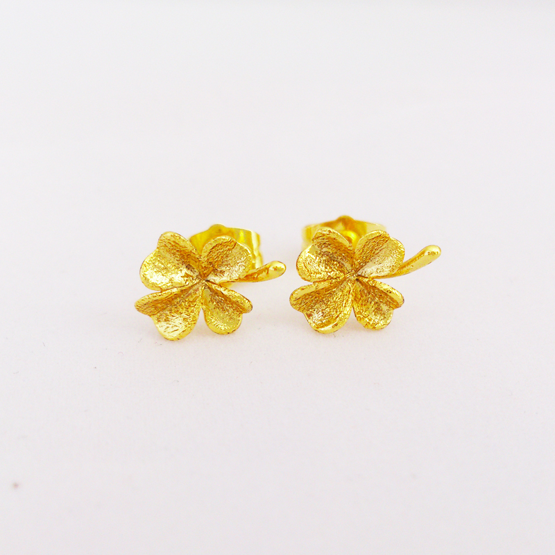 Get Quotations Whole 2017 New Arrival 24k Gold Plated Earrings Flower Stud For Women
