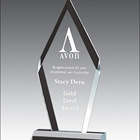 custom clear acrylic perspex trophy award blanks