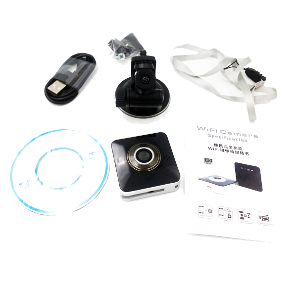 Portable Multi-function sport <strong>camera</strong> CA-WF-002 mini wifi <strong>camera</strong>