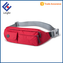 Multi purpose scratch resistant sport fanny pack custom, elastic zipper puller fashion waterproof travel waist bag