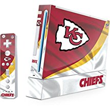 NFL Kansas City Chiefs Wii (Includes 1 Controller) Skin - Kansas City Chiefs Vinyl Decal Skin For Your Wii (Includes 1 Controller)