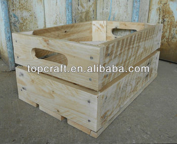 Handmade vintage style apple crate bushel box storage for Vintage crates cheap