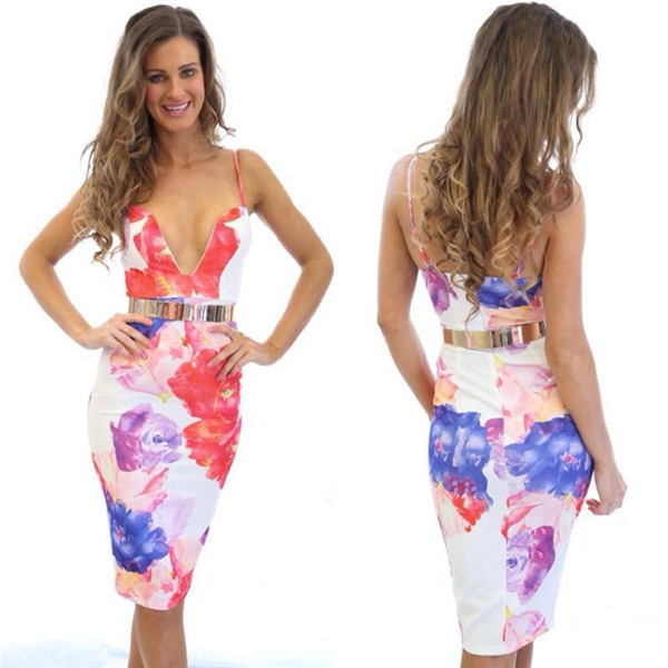 d019ea1454 Get Quotations · Summer Sleeveless Longo Pencil Dress Women V neck Party  Wear Nightclub 2015 Evening Vestidos Bodycon Sexy
