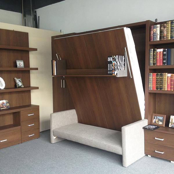 収納式ベッドソファ付、 層状に壁のベッドソファ、 ソファの壁のベッド