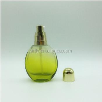 50ml clear purple oval color gradient shaped empty spray pump perfume glass  bottles 7f576e7423b2