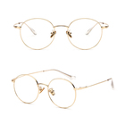 Retro Round Metal Glasses Frame Computer Anti Blue Light Glasses
