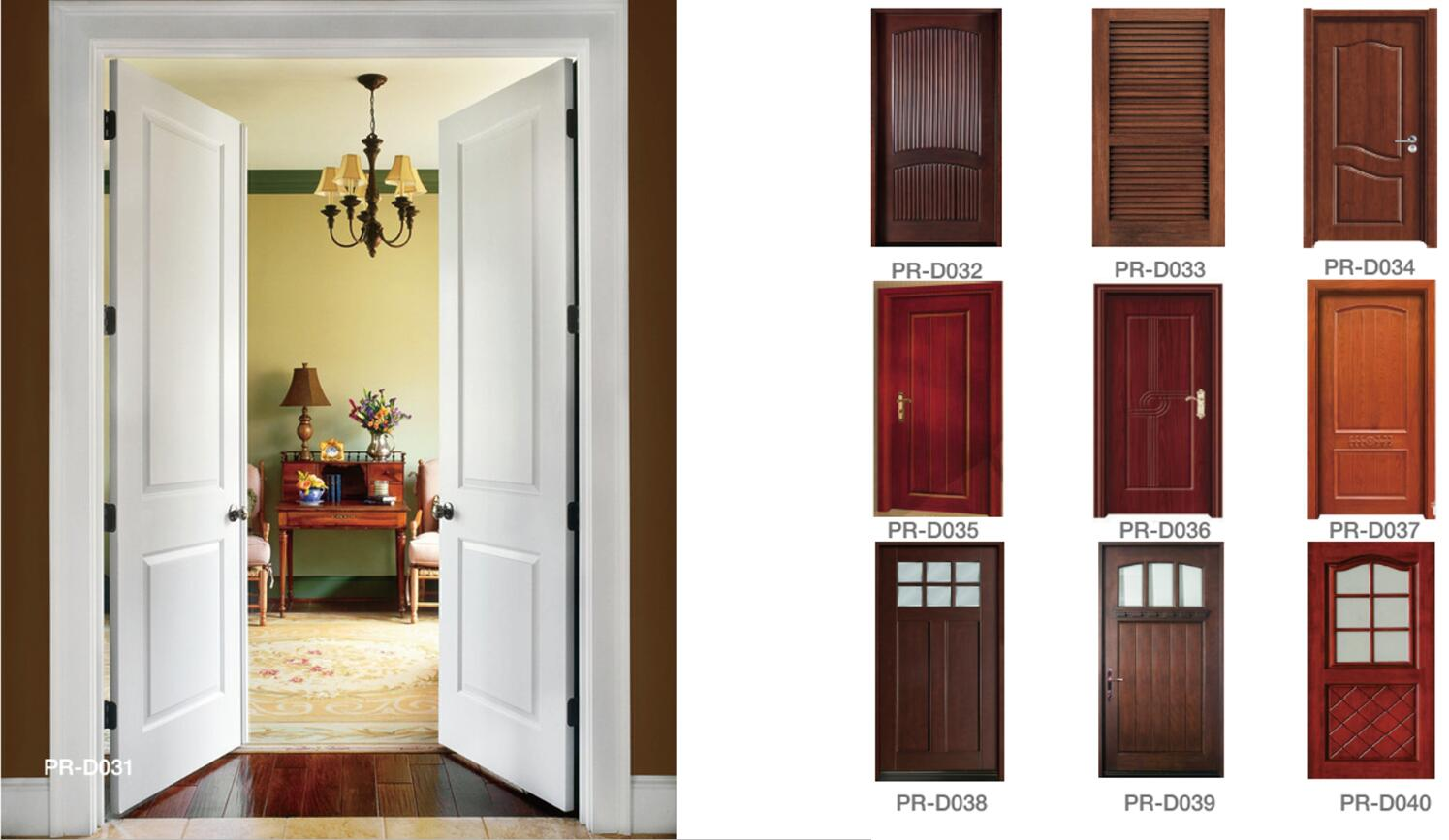 Factory low cost interior wood door solid internal doors