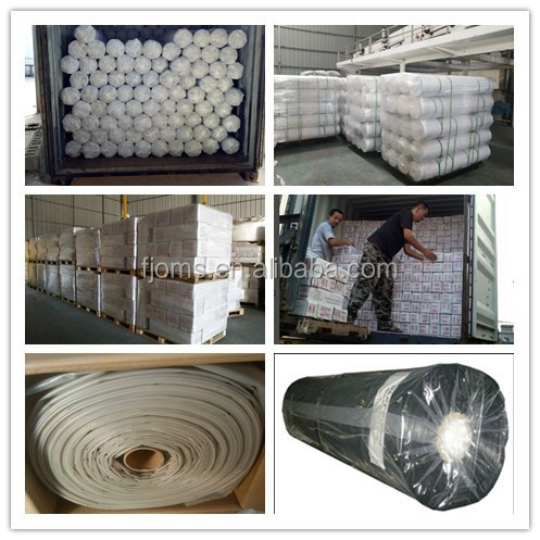 Clear / black Polyethylene Plastic roll for floor protection and plastic roof covering