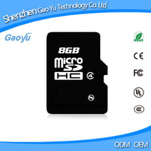OEM CL10 Micro Real Capacity Wholesale SD 8GB Memory Card