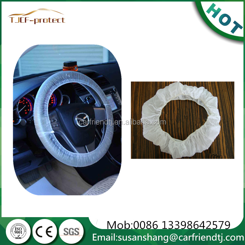 auto disposable auto steering wheel cover white and clear colour
