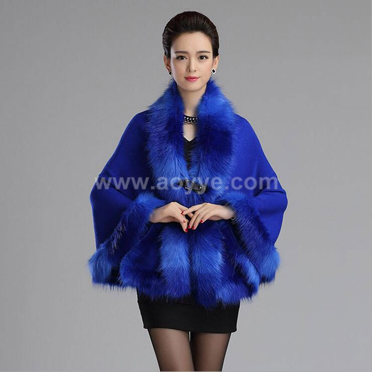 Winter fashion hot style Coat of fur shawls Knitting cardigan cape Factory direct sale