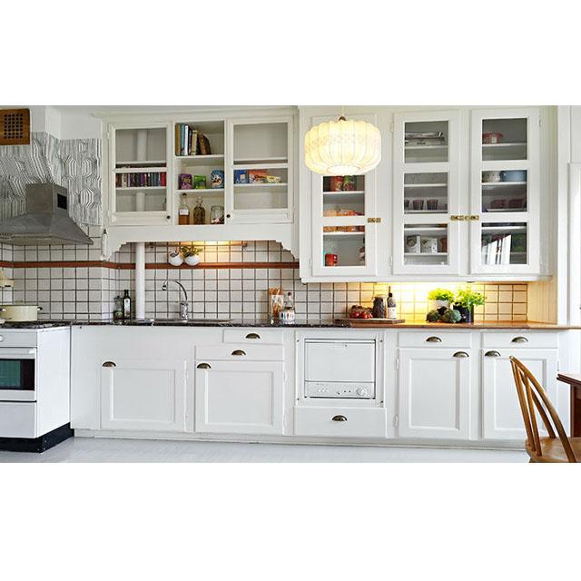 מעולה סין מפעל מודרני מבריק לבן לכה מטבח ארון למכירה-ארונות מטבח-מספר IU-18