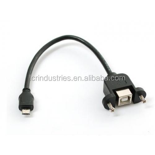 30cm USB 2.0 B Male to USB B Female Socket Printer Panel Mount Extension Cable