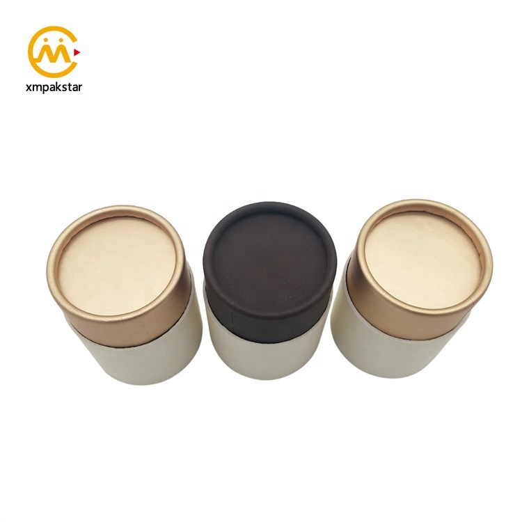 Custom made food grade aluminum foil small round cardboard food product packaging tube box