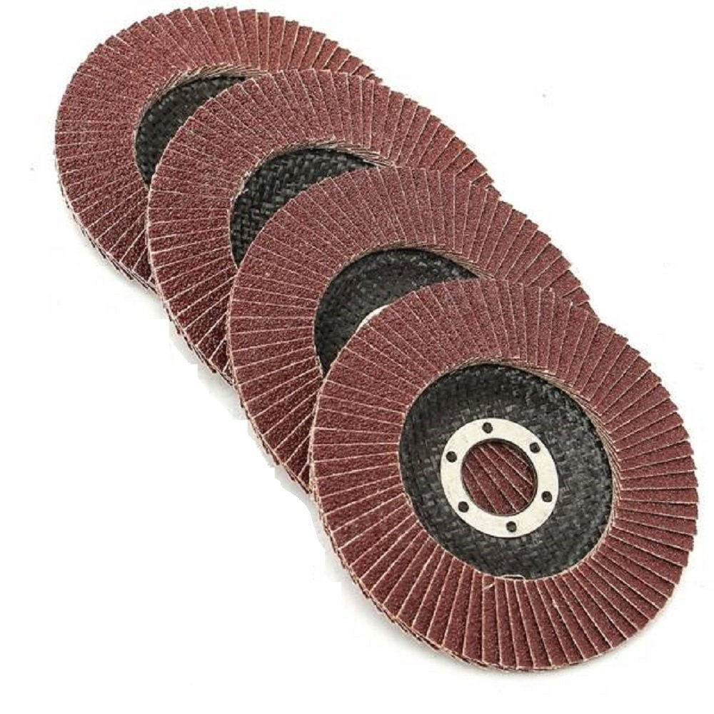 Grinding Wheels - Flap Grinding Wheels For Angle Grinder – 5 Piece Ideal Grinding, Polishing, Rust Removing Size 4X72 Aluminum Oxide: #240 Grit, By Katzco