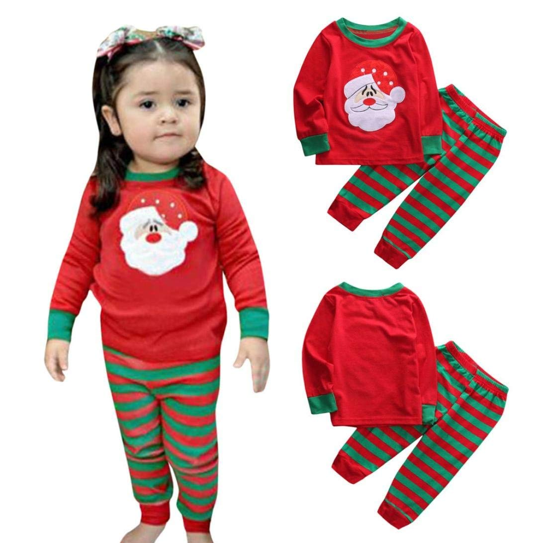 871966f4f3 Get Quotations · Gallity Baby Christmas Home Outfits Pajamas Xmas Newborn Baby  Boy Girl Santa Claus Tops Stripe Pants