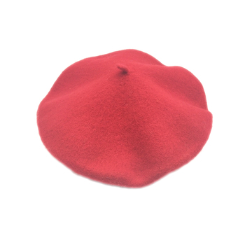 Free Sample Solid Color 100% Pure Wool Custom Adult Children Red beret