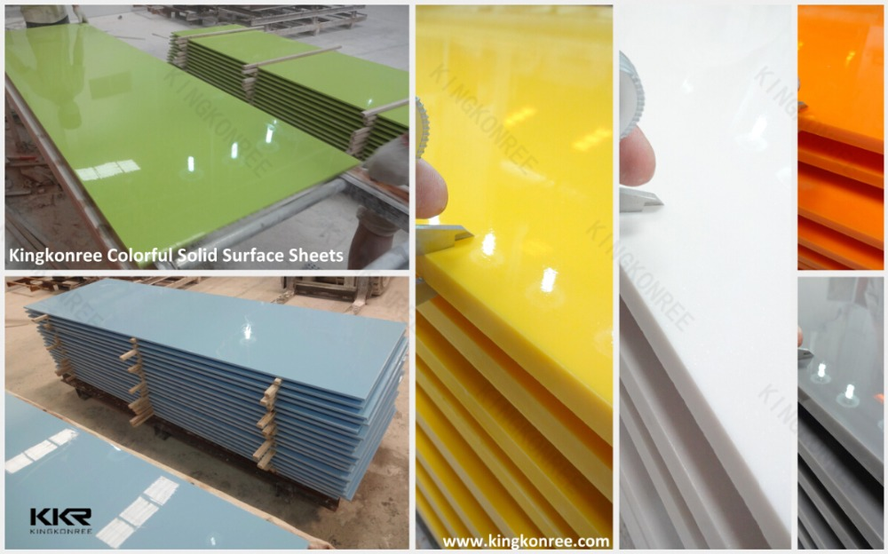 Kitchen Cabinet Table Top Solid Surface Artificial Marble Acrylic Solid  Surfrace Sheet