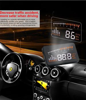 Universal X5 Gps Hud Head Up Display Car Velocimetro Auto Car Styling Speed  Alarm Obd Ii Obd2 Car Hud Windshield Projector 2017 - Buy Gps Hud,Obd2 Car